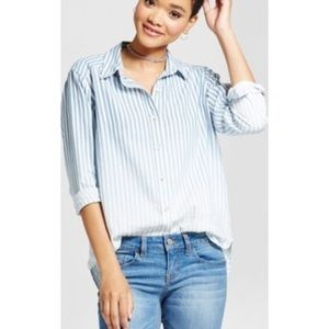 Ombré Striped Button Down Shirt